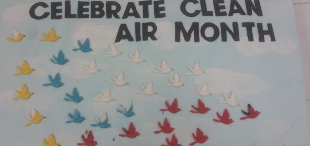 Celebrating Clean Air Month with a carrot cake!