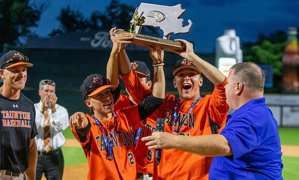 Taunton baseball Evan Melo Josh Lajoie Jack Moynihan