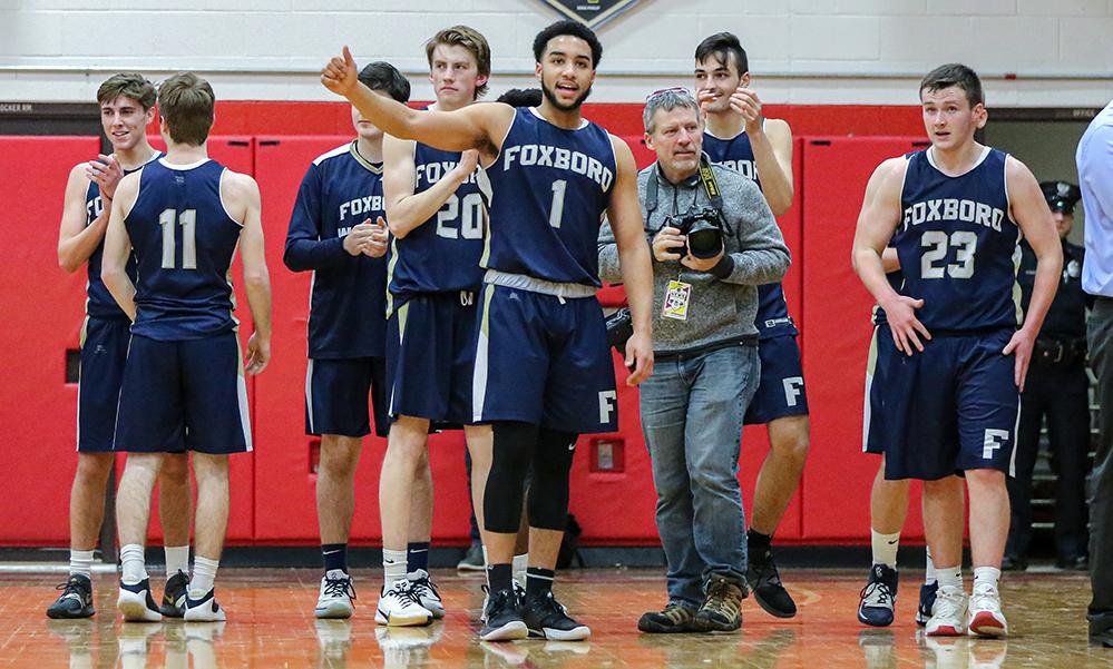 Foxboro boys basketball Brandon Borde
