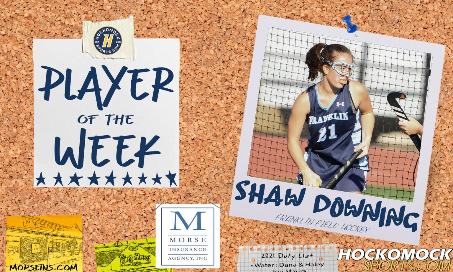 HockomockSports.com: Player of the Week - Shaw Downing, FHS Field Hockey
