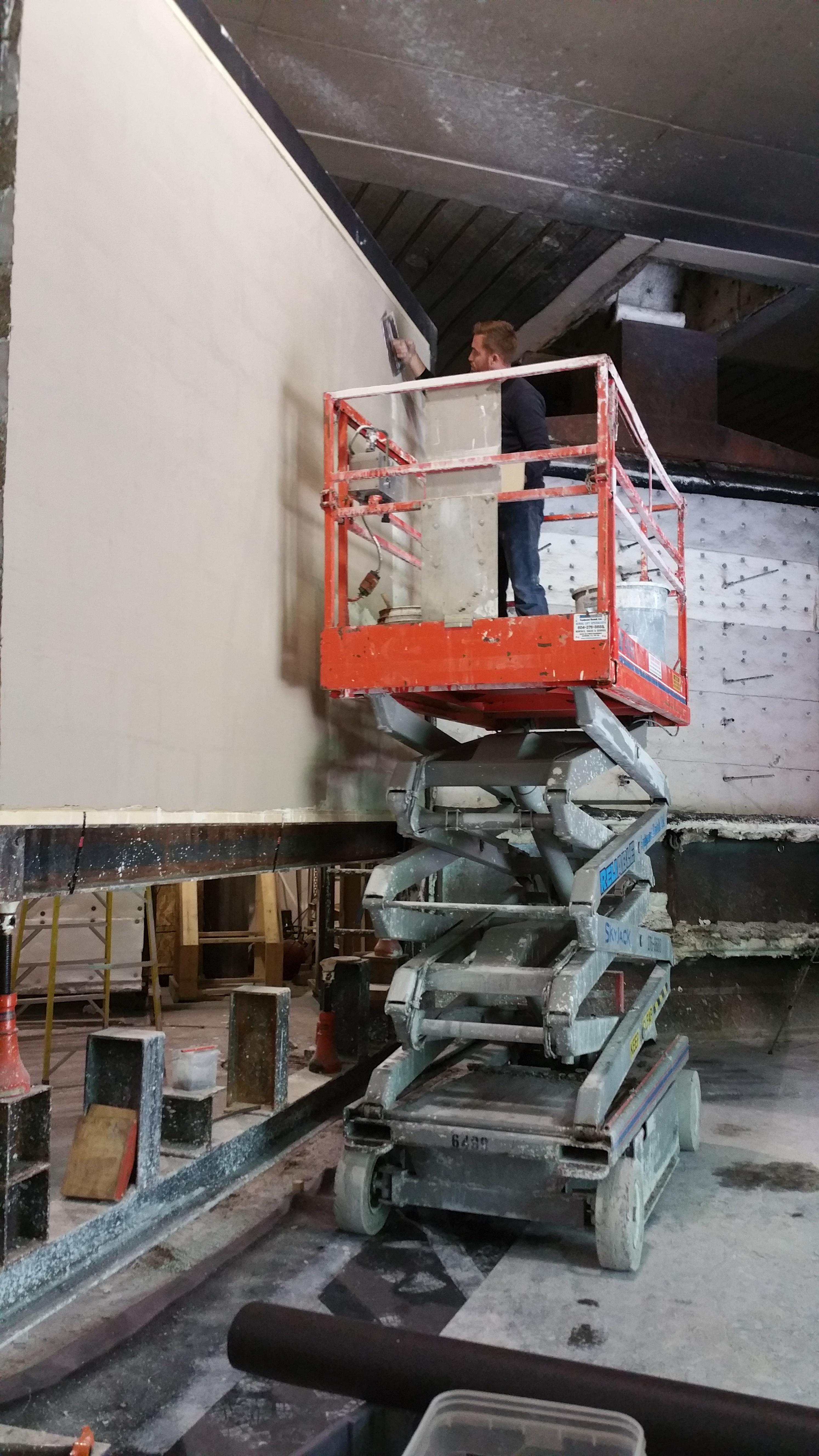 Expert plaster applicator 107 SF 17 minutes