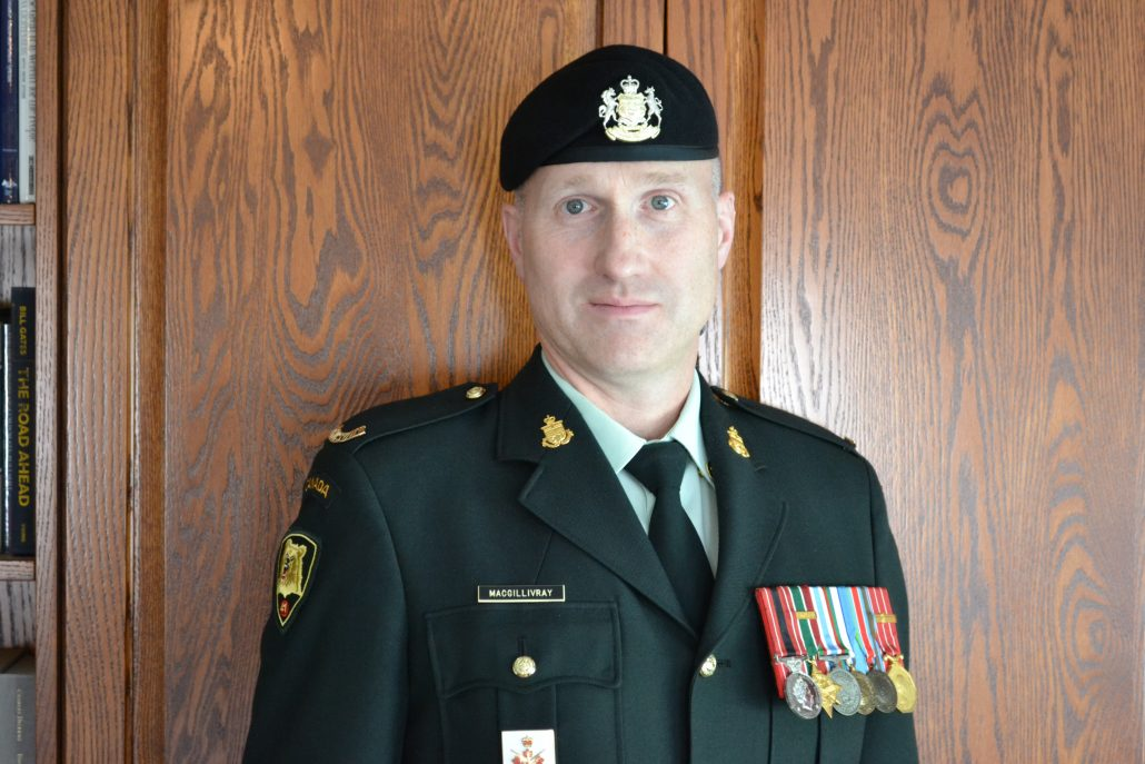 Regimental Sergeant Major, Chief Warrant Officer Troy MacGillivray