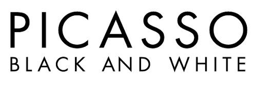 picasso black on white