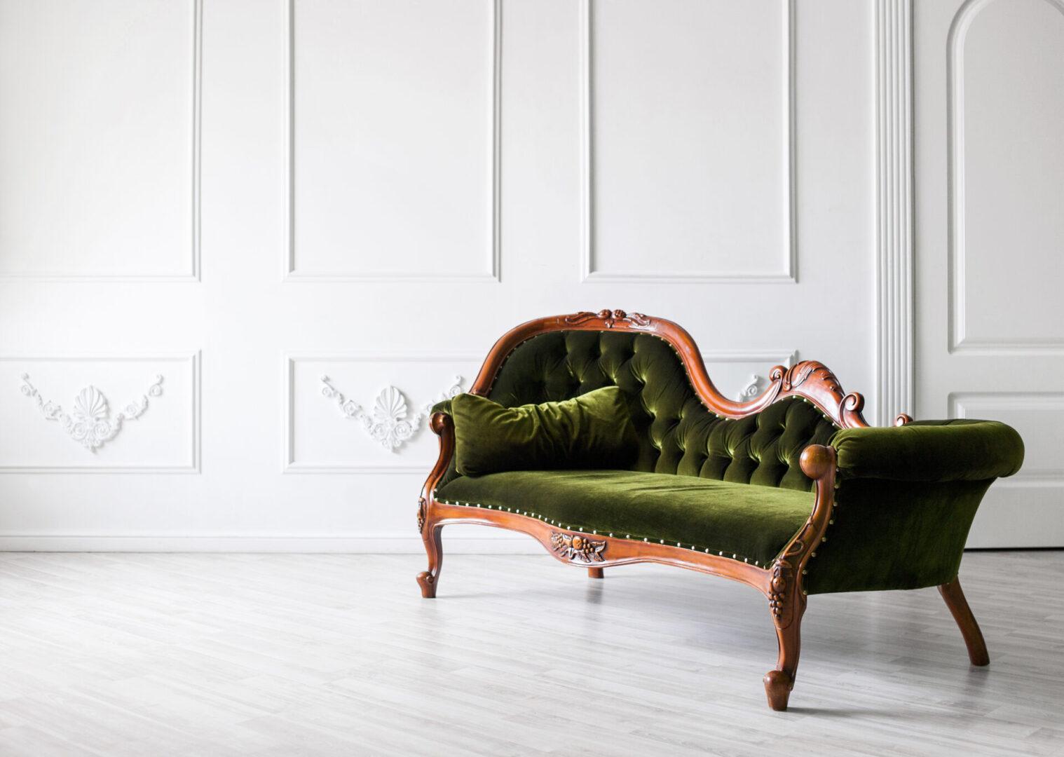 Beautiful classic sofa in a living room