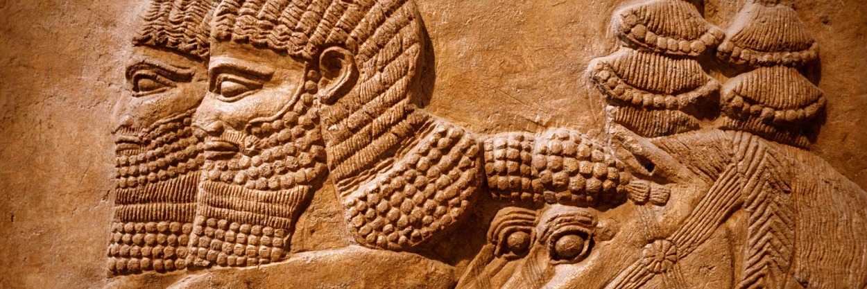 Detail of an Assyrian relief from Nimrud showing horses and horsemen of the royal chariot, 725BC. Photograph: Steven Vidler/Eurasia Press/Corbis.