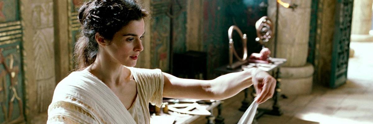 Hipátia de Alexandria em uma das suas aulas na Biblioteca de Alexandria, interpretada por Rachel Weiz em Ágora, direção de Alejandro Amenábar.