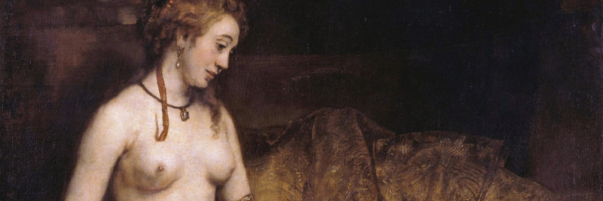 "Recorte de ""Bathsheba with King David´s Letter"" - Rembrandt."