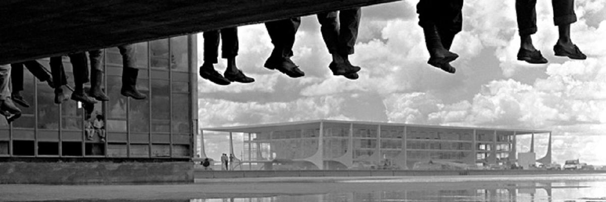 Operários durante a construção de Brasília - por Alberto Ferreira.