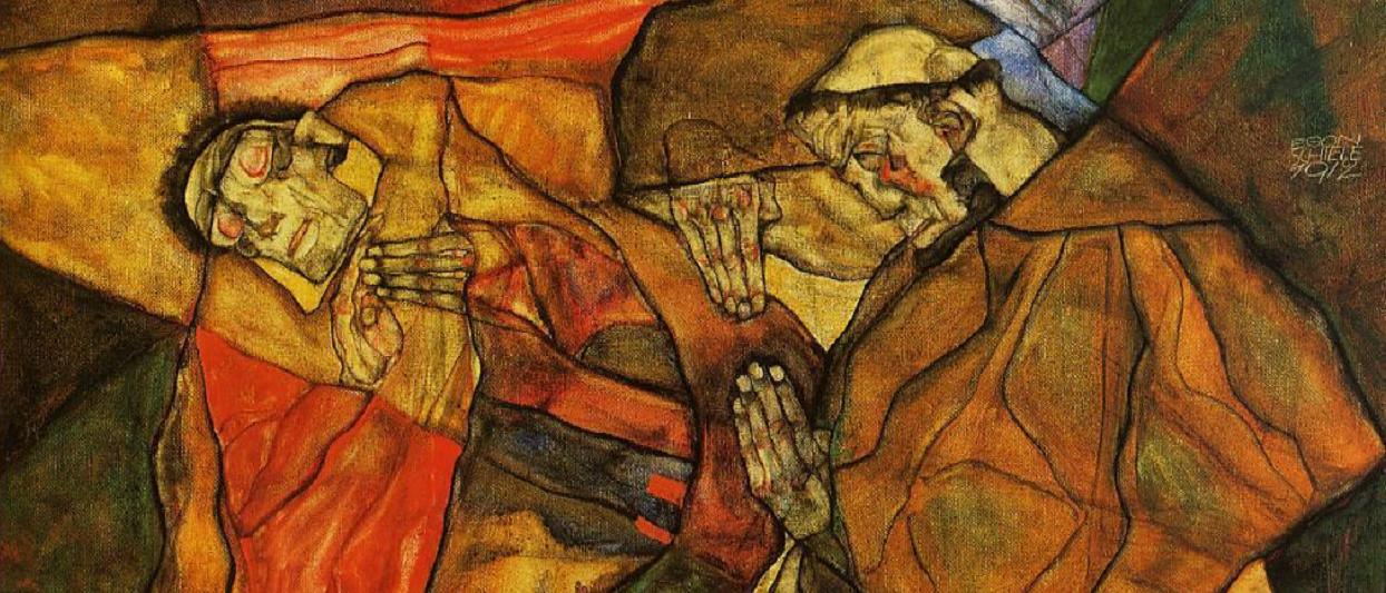 Agony the death struggle – Egon Schiele -1912 ( Recorte)