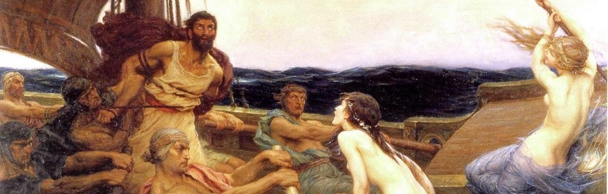Ulisses e as Sereias - por Hebert Draper (1909).
