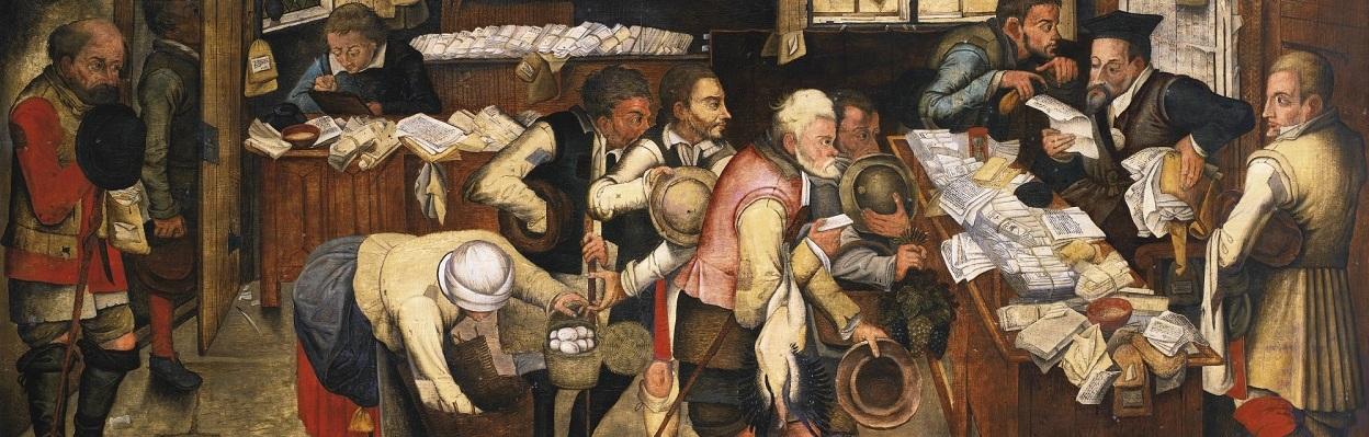 The Rent Collectors by Pieter Brueghel (1564 – 1636).