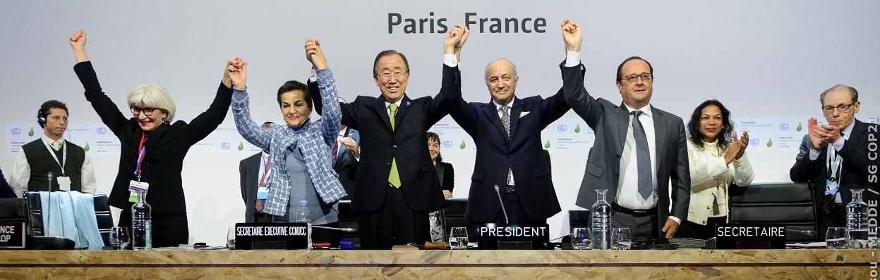Final da COP21 em Paris.