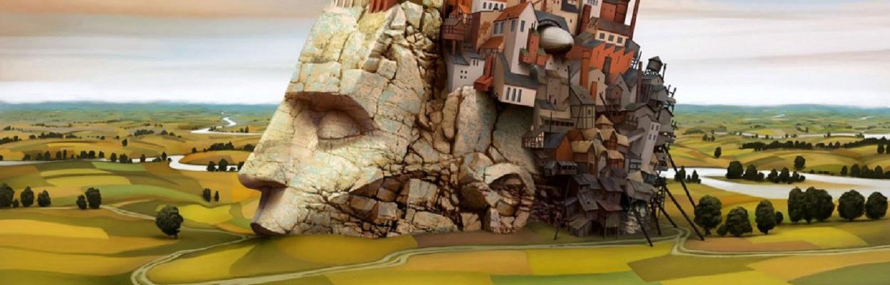 Dream world painting by Jack Yerka.