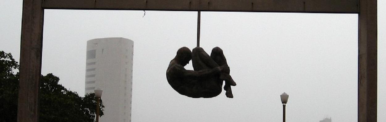 Monumento Tortura Nunca Mais - Rua da Aurora em Recife.