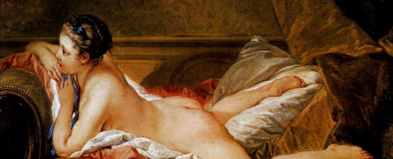 Blonde Odalisque (Louise o'Murphy) by Francois Boucher, 1745.