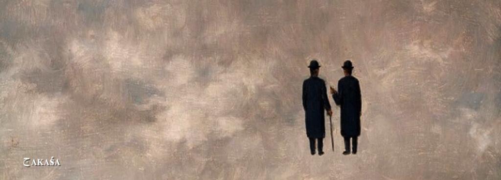 "The Art of Conversation"". René Magritte, 1963"