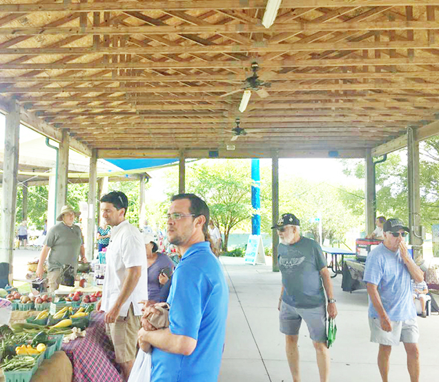 Farmers market returns to the beach