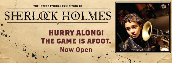 The International Exhibition of Sherlock Holmes banner