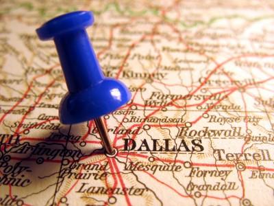 Dallas - pin in the map