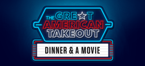 great American takeout dinner and a movie