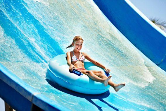 Water Park - girl on waterslide