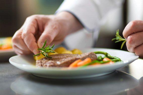 Chef steak dinner