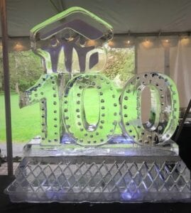 100 with logo