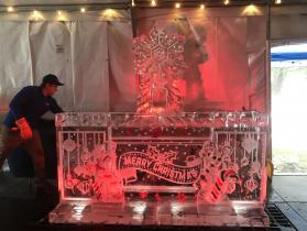 Merry Christmas Bar 8 ft with snowflake luge in center
