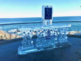 Cliff House 8 ft bar with single KV drink luge