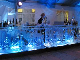 Crystal ice bar 12 ft for corporate holiday party