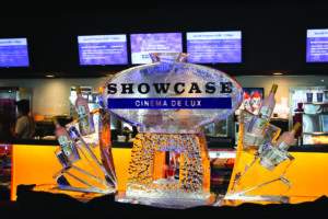 Showcase Cinema drink  luge with vodka holders