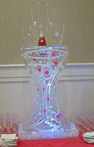 Bubble Martini Glass Drink Luge