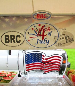 4th of July Road Race Ice Sculpture BRC