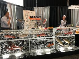 Reinhart sushi bar for Food Show Gillette Stadium