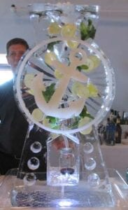 Mojito drink luge with anchor engraving