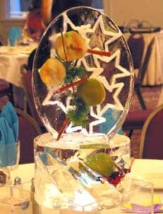 Apple Pendant Center piece in ice