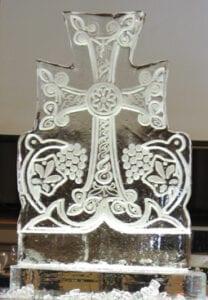 Armenian Cross Ice Sculpture