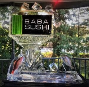 Baba Sushi logo designed for a sushi station