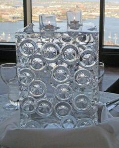 Block Centerpiece ice sculpture 2
