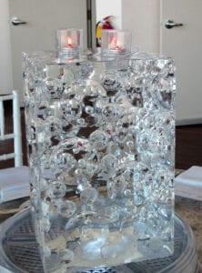 Block Centerpiece Ice Sculpture 3