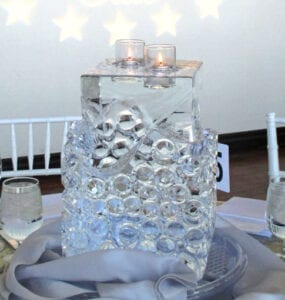 Block Centerpiece ice sculpture 5