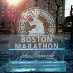 Boston Marathon Ice Sculpture