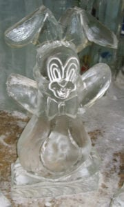 Bunny waving in Freezer