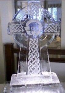 Celtic Cross Ice Sculpture