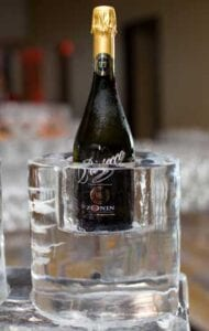 Champagne Holder Ice Sculpture