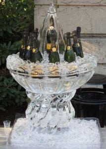 Very large Champagne server - 4 blocks