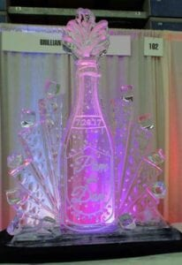 Champagne Station for wedding or event, we can put your logo on the face of the bottle
