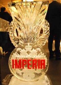 Logo on Vase Ice Sculpture