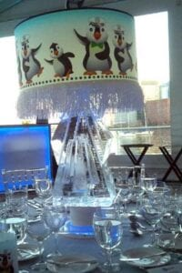 Crystal Vase Centerpiece Ice Sculpture
