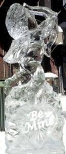 Cupid with bow and arrow Ice Sculpture